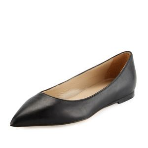 HALSTON HERITAGE Valerie Leather Pointed Toe Flat